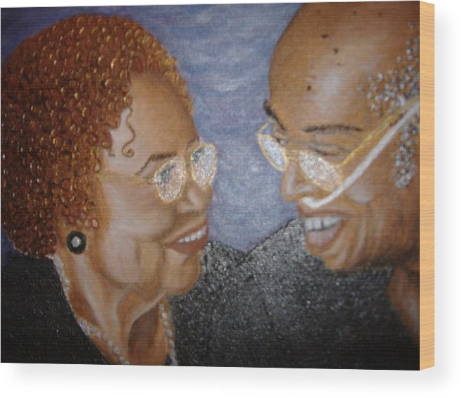Acrylic Wood Print featuring the painting Everlasting Love by Keenya Woods