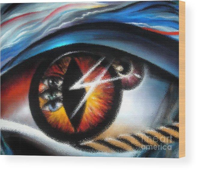 Eye Wood Print featuring the digital art Eyes Of Immortal Soul by Sofia Metal Queen