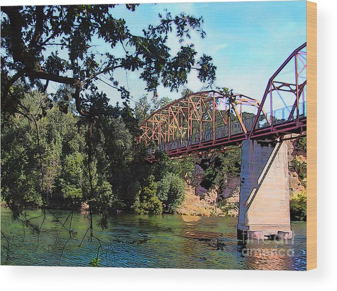 Fair Oaks Bridge Wood Print featuring the photograph Fair Oaks Bridge by Anthony Forster
