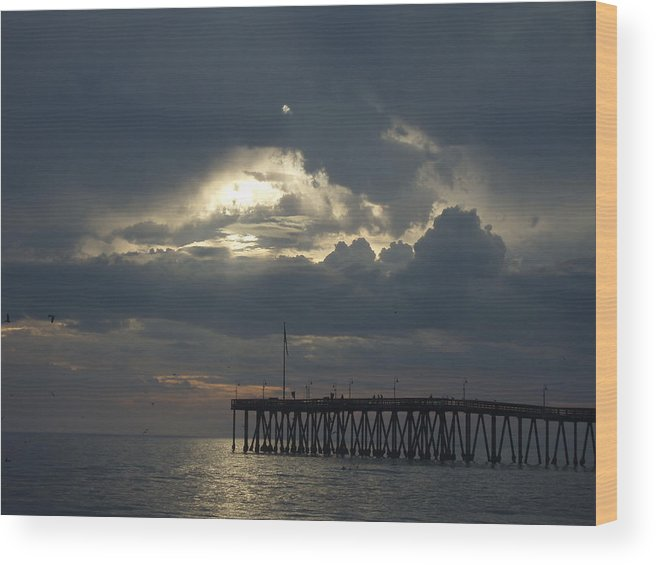 Wood Print featuring the photograph Fall Sunset by Liz Vernand
