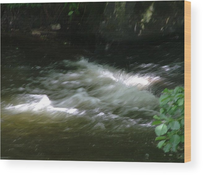 Landscape Wood Print featuring the photograph Fastwater by John Bradburn