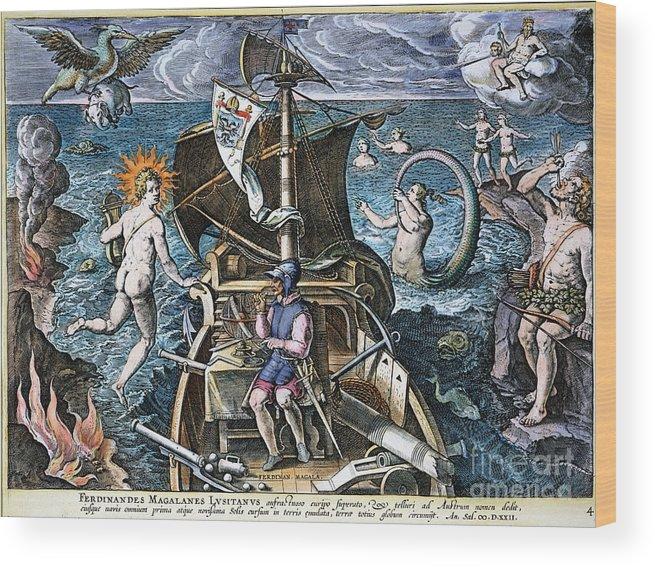 1520 Wood Print featuring the photograph Ferdinand Magellan by Granger