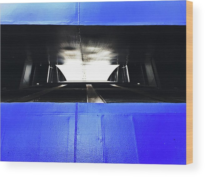 Ferry Wood Print featuring the photograph Ferry Abstract by Tinto Designs