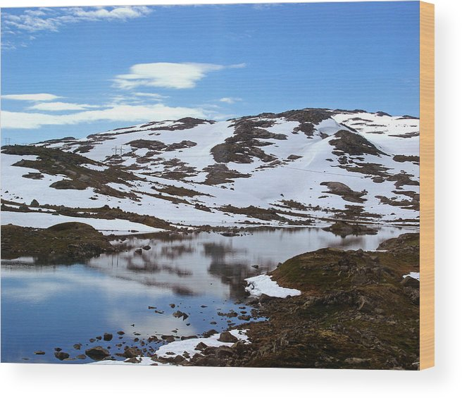 Mountain Wood Print featuring the photograph Finse by Alizey Khan