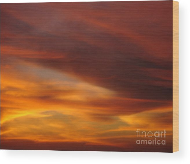 Sunset Wood Print featuring the photograph Fire In The Sky 2 by Chad Natti