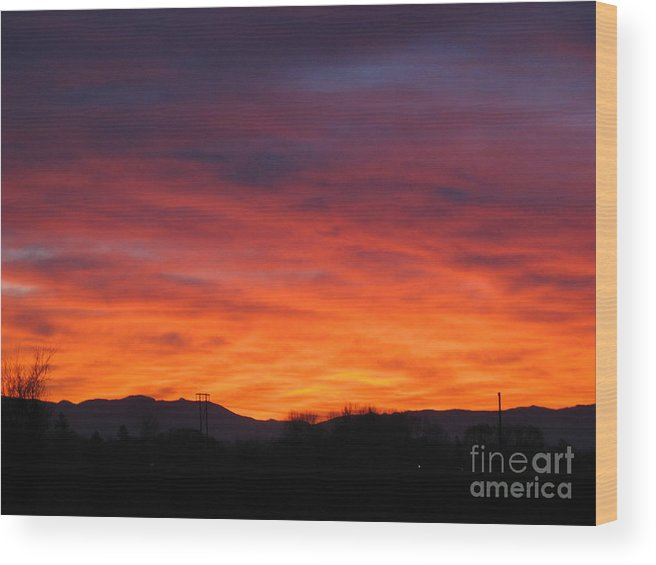 Early Dawn Wood Print featuring the photograph Fire Of Dawn by Juli House