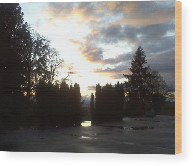 Sunsets Wood Print featuring the photograph Fire Sky by Destini Hurst