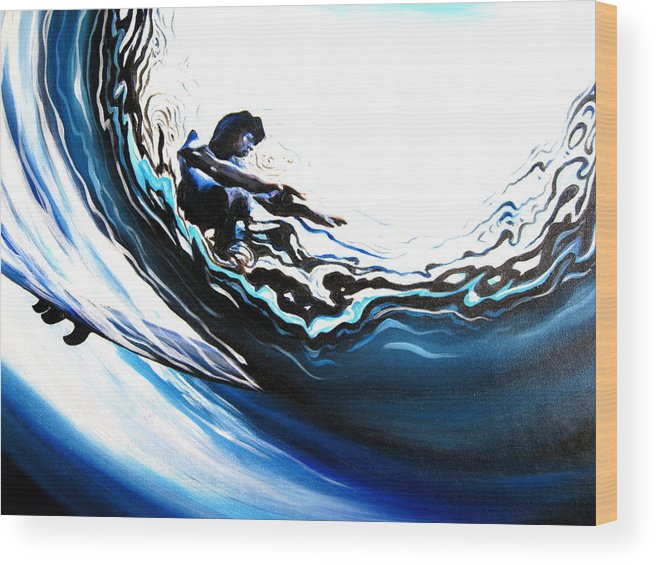 Surf Wood Print featuring the painting Fish Eye by Ronnie Jackson