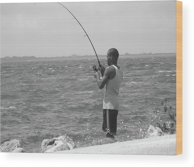 Fishing Wood Print featuring the photograph Fishful Thinkin....... by WaLdEmAr BoRrErO