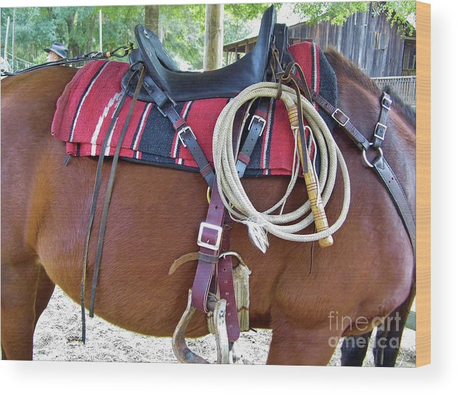 Whip Wood Print featuring the photograph Florida Cracker Cow Whip by D Hackett