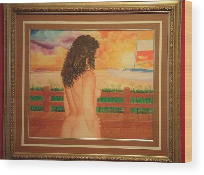 Nudes Wood Print featuring the painting Florida Dreams by Benito Alonso