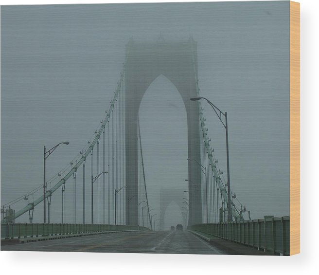 Newport Wood Print featuring the photograph Foggy Day by Jeff Porter