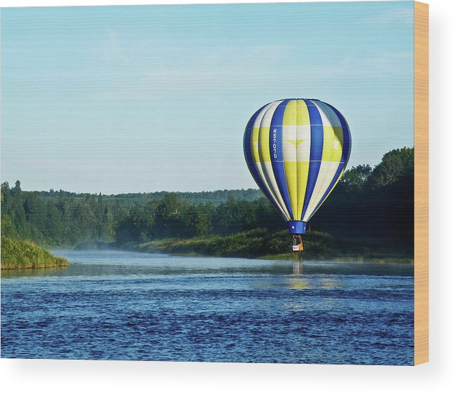 Hot Wood Print featuring the photograph Foggy River Wander by Ragina Kakos