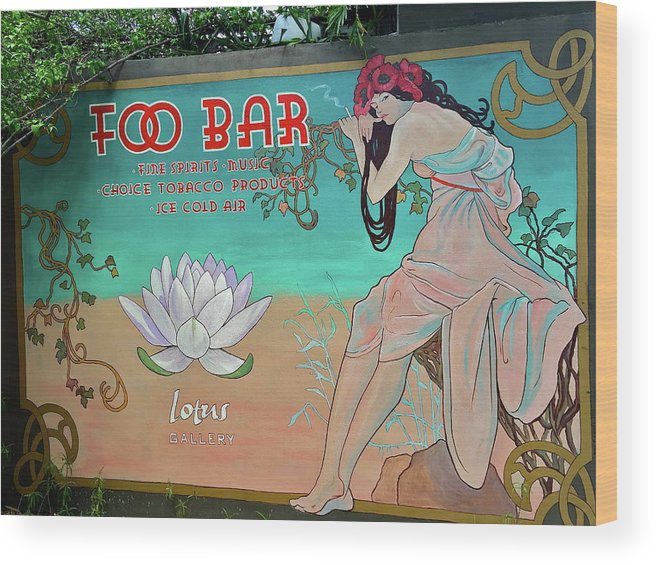 Mural Wood Print featuring the photograph Foo Bar Artwork by Denise Mazzocco