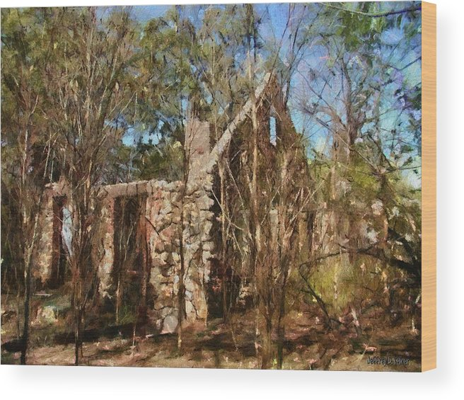 Abandon Wood Print featuring the painting Forgotten by Jeffrey Kolker
