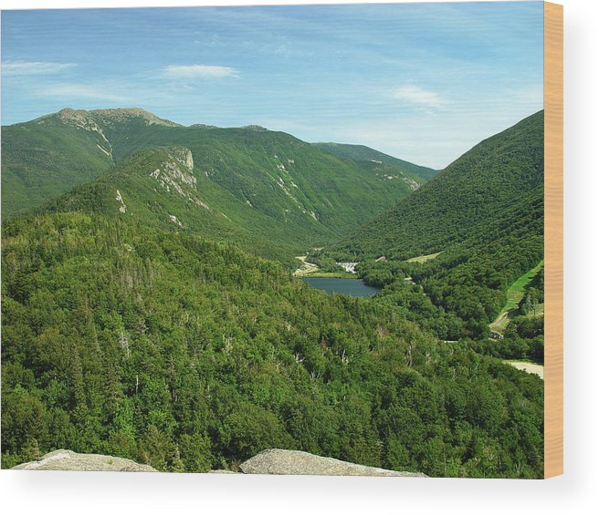 Nature Wood Print featuring the photograph Franconia Notch by Eric Workman