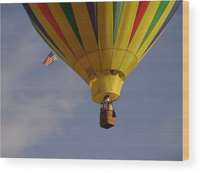 Balloon Wood Print featuring the photograph Freedom by Carol Milisen