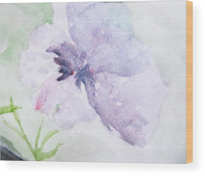 Flower Wood Print featuring the painting Fresh New Beginning by Trilby Cole