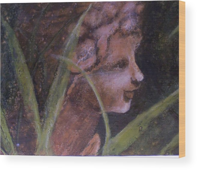 Child Wood Print featuring the painting Garden Nymph by Karla Phlypo-Price