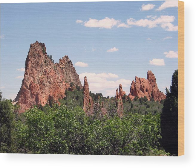 Colorado Wood Print featuring the photograph Garden Of The Gods by Margaret Fortunato