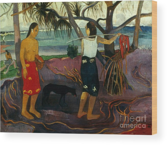 1891 Wood Print featuring the photograph Gauguin: Pandanus, 1891 by Granger