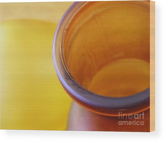 Glass Wood Print featuring the photograph Glass Abstract 718 by Sarah Loft