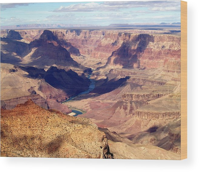 Grand Canyon National Park Wood Print featuring the photograph Glimpse Of River by Carrie Putz