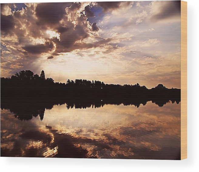 Sunrise Wood Print featuring the photograph Glorious Moments by Gaby Swanson
