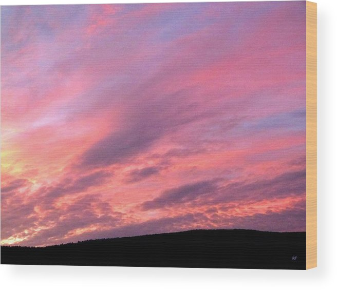 Sunset Wood Print featuring the photograph Glorious Nightfall by Will Borden
