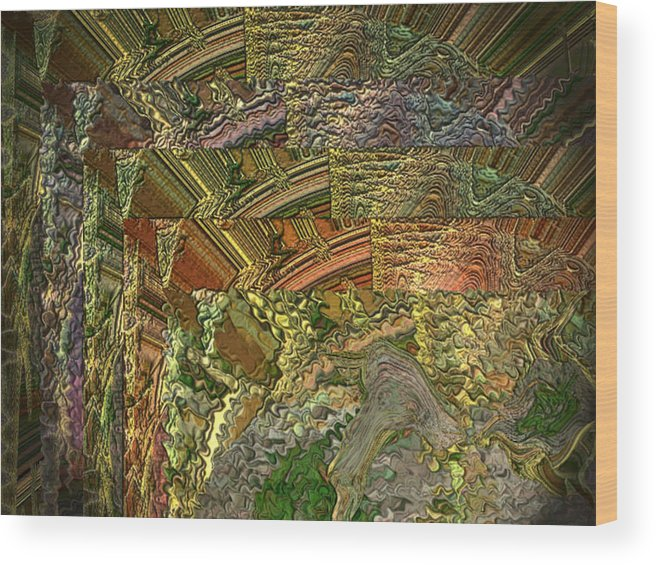 Alvin Kimble Wood Print featuring the digital art Golden Flow by Beverly Kimble Davis