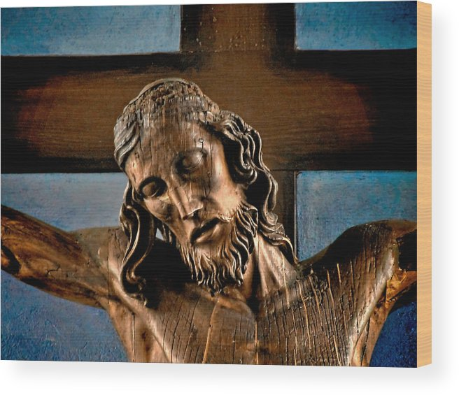 Easter Wood Print featuring the photograph Good Friday Jesus On The Cross by Christine Till