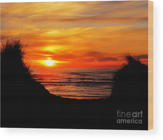 Sunset Wood Print featuring the photograph Goodnight by Ron Tackett