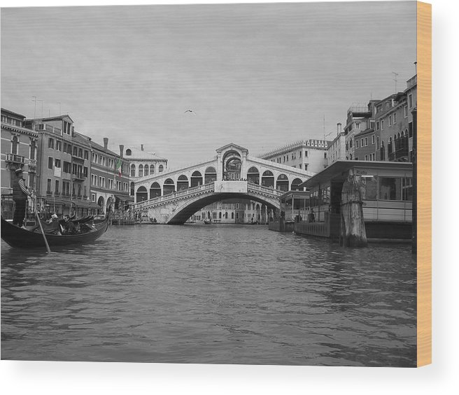 Cityscape Wood Print featuring the photograph Grand Canal IIi by Dylan Punke