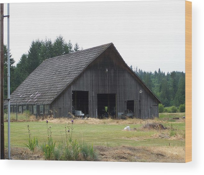 Barn Wood Print featuring the photograph Gray Barn   Washington State by Laurie Kidd