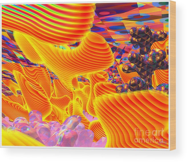 Psycho-delic; Digital Art; Surrealism; Abstract Wood Print featuring the digital art Great Art 3a by Terry Anderson