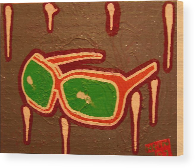 Sunglasses Wood Print featuring the mixed media Grey Light by Heinrich Haasbroek