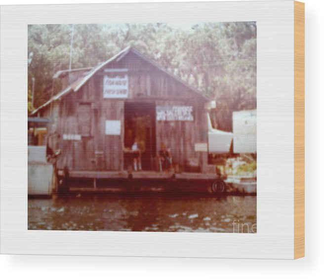 River Wood Print featuring the photograph Hampton's Fish House by Hal Newhouser