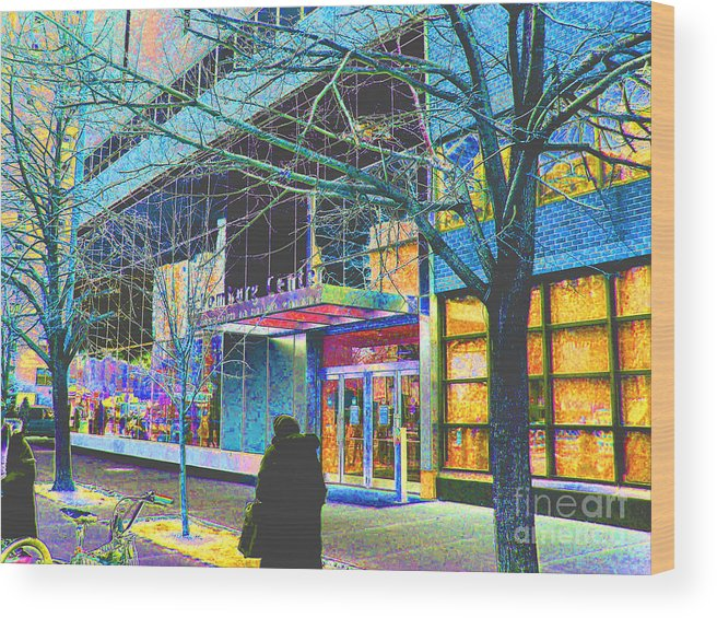 Harlem Wood Print featuring the photograph Harlem Street Scene by Steven Huszar