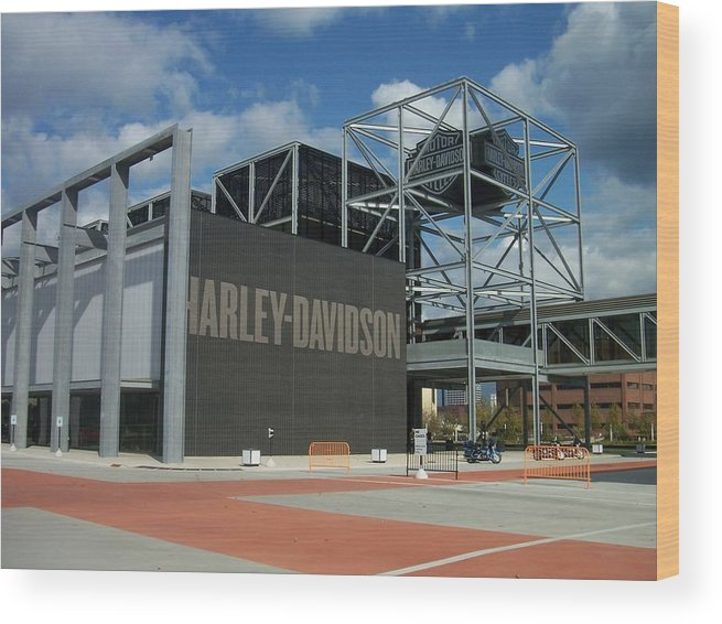 Wood Print featuring the photograph Harley Museum by Anita Burgermeister