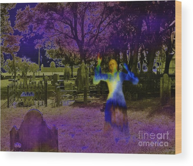 Spooky Wood Print featuring the digital art Haunted Night by D Hackett