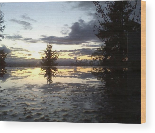Water Wood Print featuring the photograph Heavens Reflection by Destini Hurst