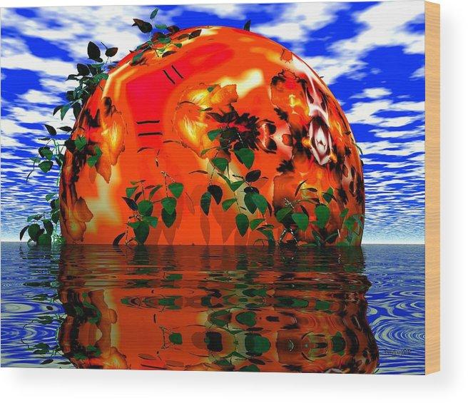 Sphere Wood Print featuring the digital art Heavens Scent by Robert Orinski