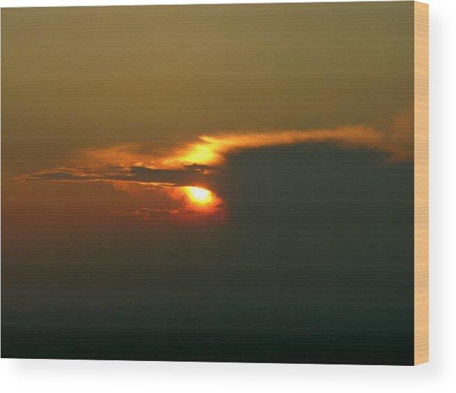 Sunset Wood Print featuring the photograph Hidden Fire by John Geck