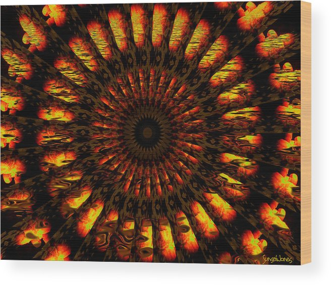 Wheel Wood Print featuring the digital art Hold On To Hope by Robert Orinski