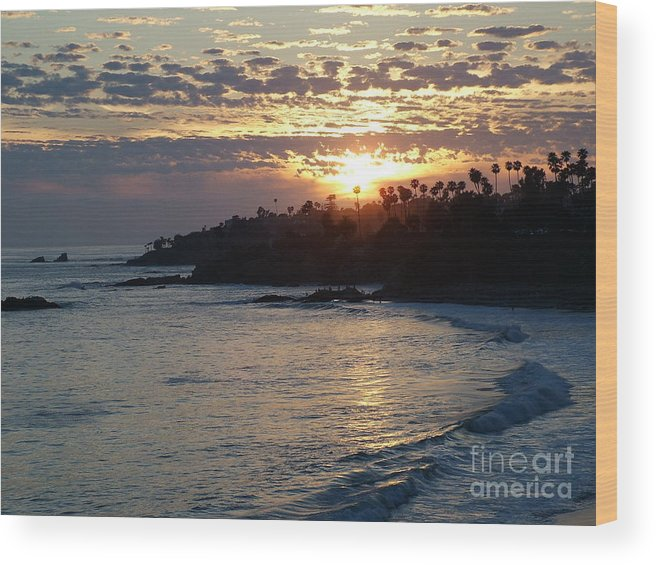 Sunset Wood Print featuring the photograph Holy Light by John Loyd Rushing