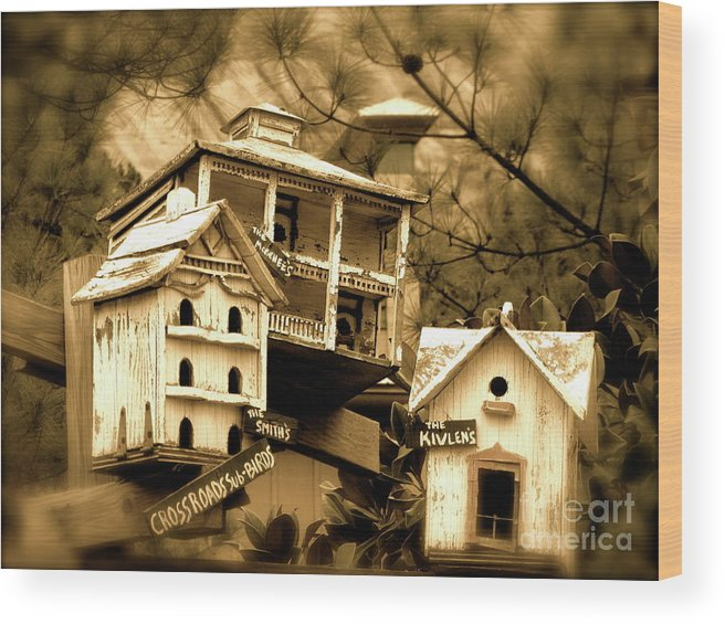 Birdhouse Wood Print featuring the photograph Home by Barbara Palmer