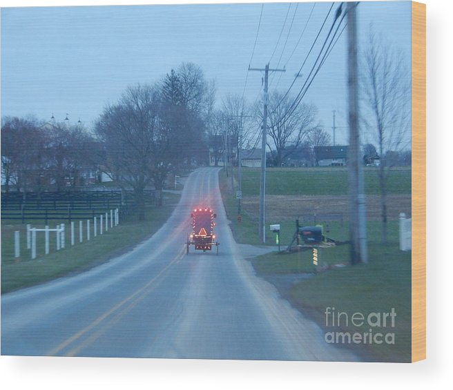 Amish Wood Print featuring the photograph Homeward Bound by Christine Clark