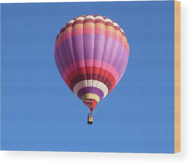 Balloon Wood Print featuring the photograph Hot Air Balloon by Anthony Stone