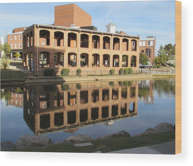 Greenville Wood Print featuring the photograph Hugenot Mill by Anthony Stone