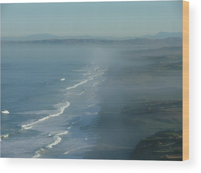 Sea Scape Wood Print featuring the photograph I Feel As If I Have Just Landed On The Moon by Donna Thomas